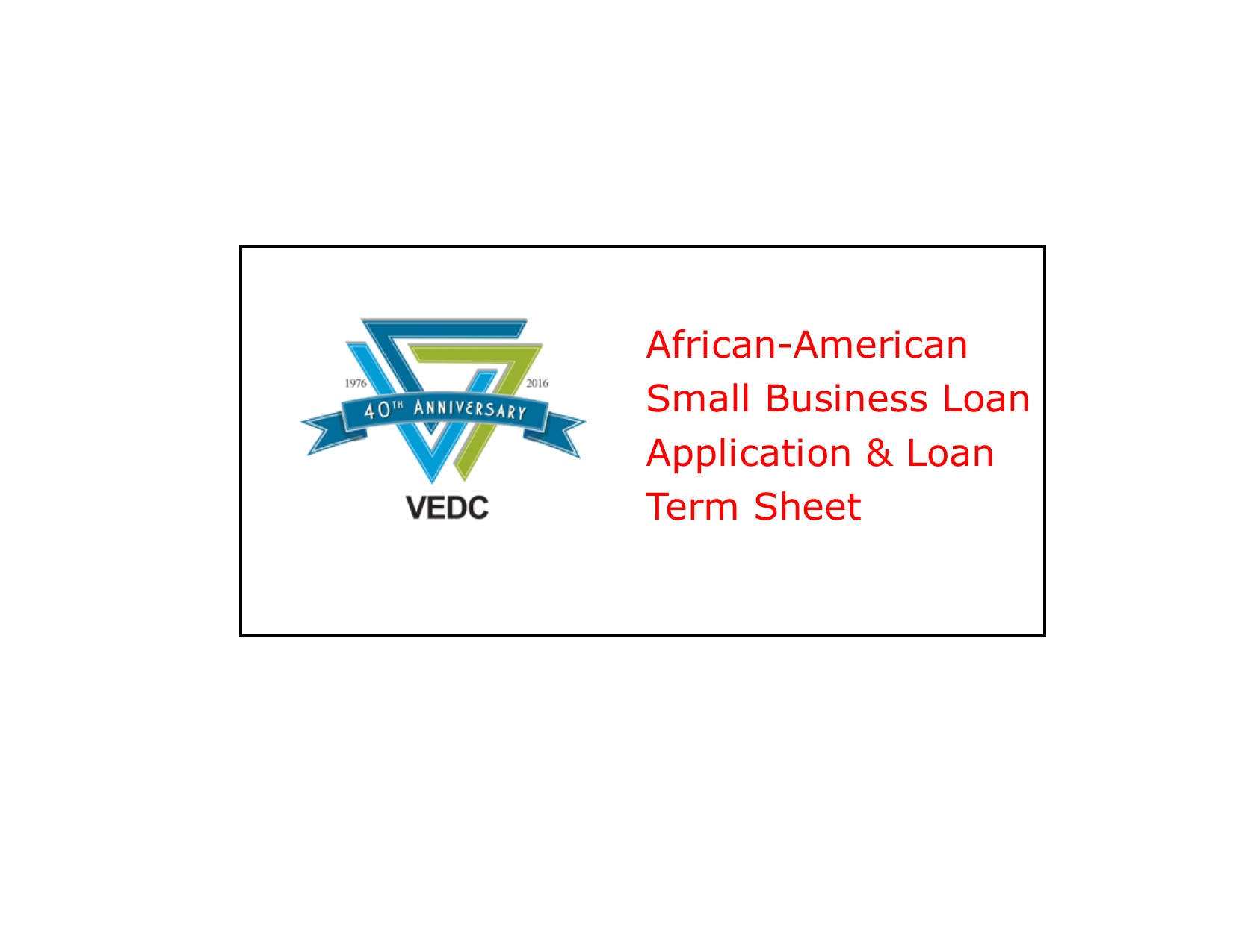 VEDC Application