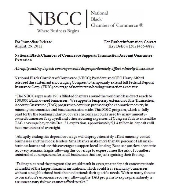 NBCC Supports Tag Extension